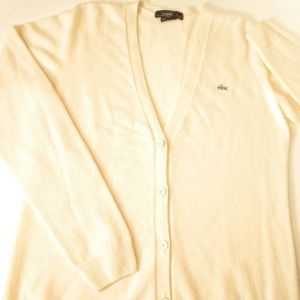 Lacoste Made in France Cashmere Cardigan 10
